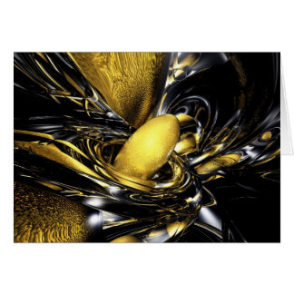 Gold Fever Abstract Card