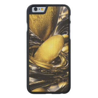 Gold Fever Abstract Carved® Maple iPhone 6 Slim Case