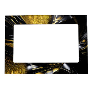 Gold Fever Abstract Magnetic Photo Frame