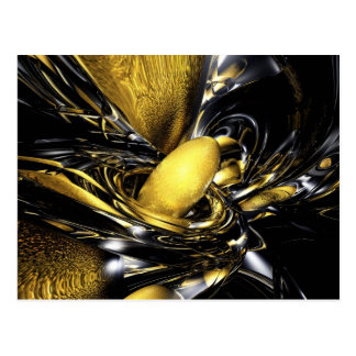 Gold Fever Abstract Postcard