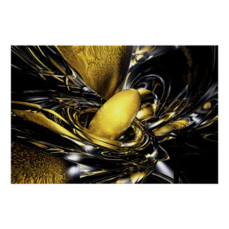 Gold Fever Abstract Poster