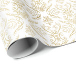 Gold Filigree Damask 2 - Wrapping Paper