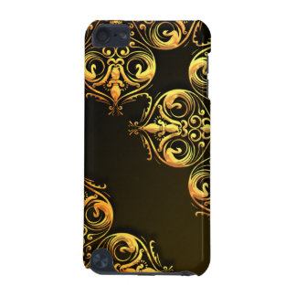 Gold Filigree on Brown iPod iPod Touch (5th Generation) Cover