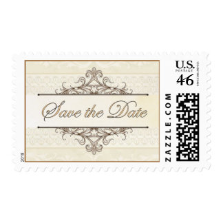 Gold Filigree Save the Date Stamp