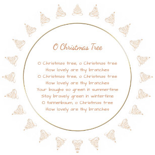 gold filigree tree o christmas tree lyrics paper plate - Oh Christmas Tree How Lovely Are Your Branches Lyrics