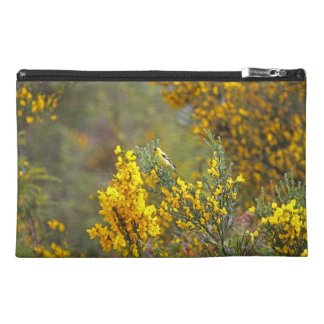 Gold Finch and Yellow Flowers Travel Accessories Bag