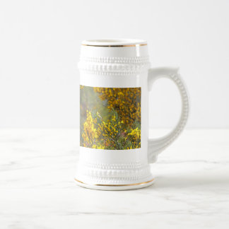 Gold Finch and Yellow Flowers Beer Stein