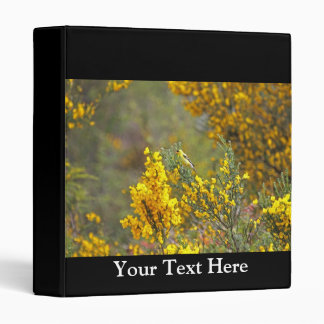 Gold Finch and Yellow Flowers Binder