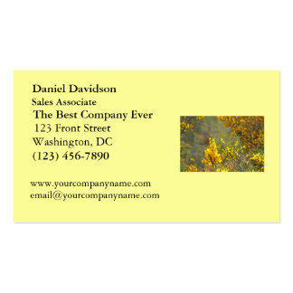 Gold Finch and Yellow Flowers Business Card