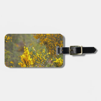 Gold Finch and Yellow Flowers Luggage Tag