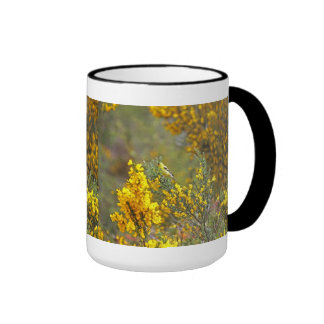 Gold Finch and Yellow Flowers Coffee Mug
