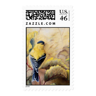 Gold Finches Stamp