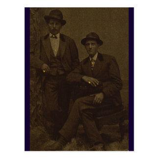 Gold-fingered Gentlemen Postcard