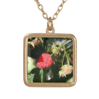 Gold Finish Floral Necklace