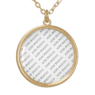 Gold Finish Med Round Necklace Create Your Own
