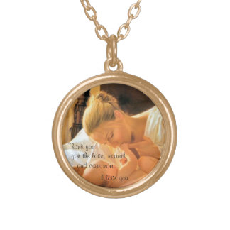 Gold finish mother s day necklace