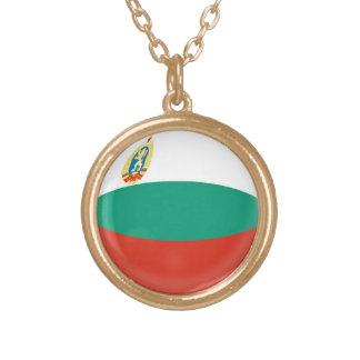 Gold finish Necklace Bulgaria flag