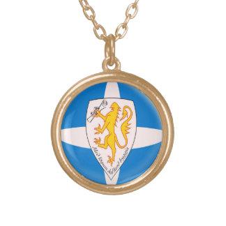 Gold finish Necklace Forvik flag