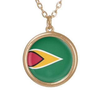 Gold finish Necklace Guyana flag