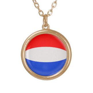 Gold finish Necklace Holland Dutch flag