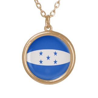 Gold finish Necklace Honduras flag