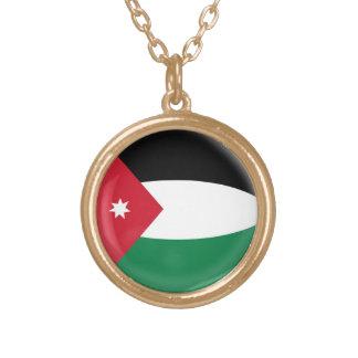 Gold finish Necklace Jordan flag