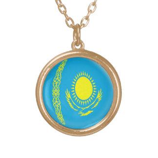 Gold finish Necklace Kazakhstan flag