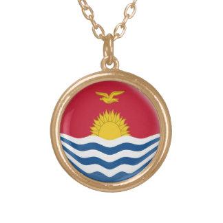 Gold finish Necklace Kiribati flag