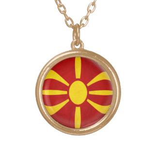 Gold finish Necklace Macedonia Macedonian flag