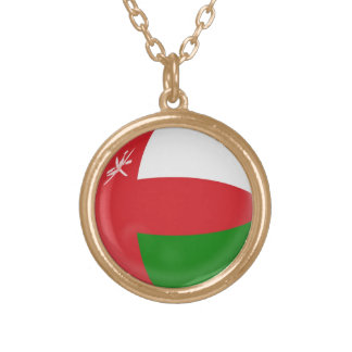 Gold finish Necklace Oman flag