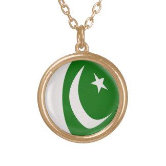 Gold finish Necklace Pakistan flag