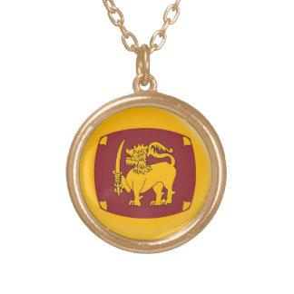 Gold finish Necklace Sri Langka flag