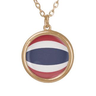 Gold finish Necklace Thailand flag