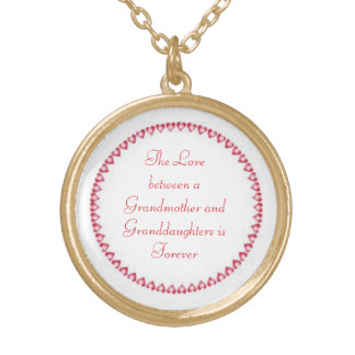 Gold Finish Round Locket/Granddaughter Gold Plated Necklace