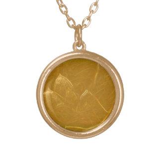 Gold Finish Round Necklace