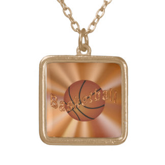 Gold Finished Basketball  Necklaces for Girls