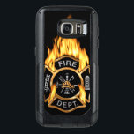 "Gold Fire Department Flaming Badge OtterBox Samsung Galaxy S7 Case<br><div class=""desc"">Flaming gold Fire Department logo. Great for firemen and first respondents.</div>"