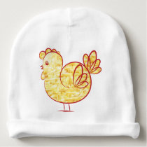Gold fire Rooster. Baby Beanie