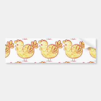 Gold fire Rooster. Bumper Sticker
