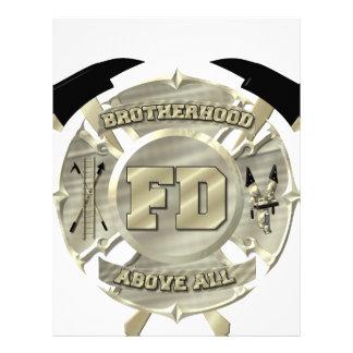 Gold Firefighter Brotherhood Symbol Letterhead