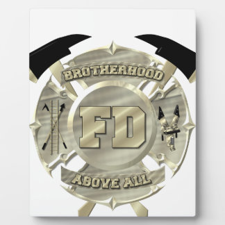 Gold Firefighter Brotherhood Symbol Plaque