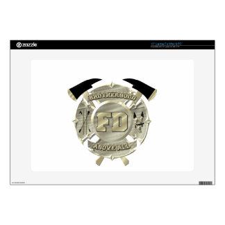Gold Firefighter Brotherhood Symbol Skin For Laptop