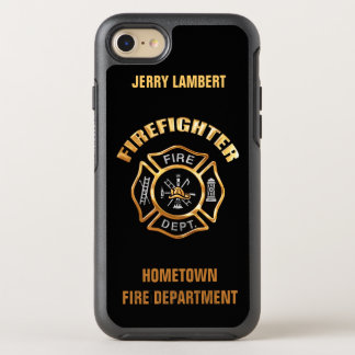 Gold Firefighter Name Template OtterBox Symmetry iPhone 7 Case