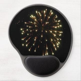 Gold Fireworks Burst Gel Mouse Pad