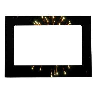 Gold Fireworks Burst Magnetic Frame