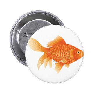 Gold Fish 2 Inch Round Button