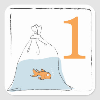 Gold Fish in Bag Sticker