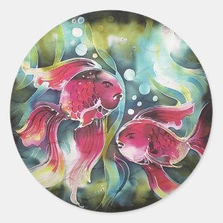 Gold Fish Luminosity Round Sticker