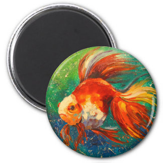 Gold fish magnet