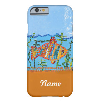 Gold Fish Mosaic Barely There iPhone 6 Case